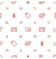 new icons pattern seamless white background vector image vector image