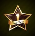 number one best choice golden label design vector image vector image