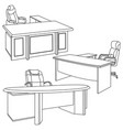 office in a sketch style vector image vector image