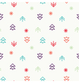 Positive Light Christmas seamless pattern vector image vector image