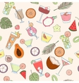Seamless coctail pattern vector image vector image