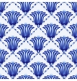 Seamless geometrical pattern in style Gzhel A vector image vector image
