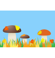 seamless of mushroom in grass vector image vector image