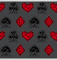seamless pattern playing card signs vector image vector image