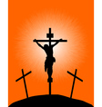 silhouette of a crucifix vector image vector image