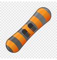 snow board icon cartoon style vector image vector image