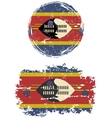 Swaziland round and square grunge flags vector image vector image