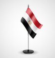 Table flag of Egypt vector image vector image