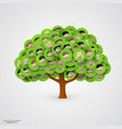 tree of smiling happy family faces vector image vector image