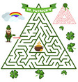 triangular labyrinth or maze riddle game vector image