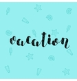Vacation Brush lettering vector image vector image