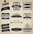 Vintage Ribbon Label vector image vector image