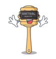 virtual reality honey spoon mascot cartoon vector image