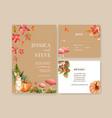 wedding invitation watercolour design vector image vector image