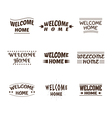 Welcome home design collection Set of 9 labels vector image vector image