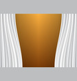 white curtain on gold design background vector image vector image