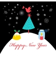 Winter card with Christmas tree vector image