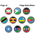 World flags East Africa vector image