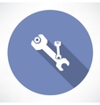 wrench and nut symbol vector image