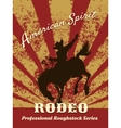 Retro rodeo poster vector image