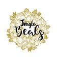 Xmas golden wreath and Jingle Beals vector image