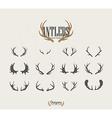 Deer Antler Icon Set vector image