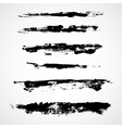 A set of grunge ink strokes vector image vector image