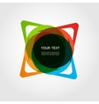Abstract form Color line design eps10 vector image