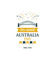 australia day greeting banner with text vector image vector image