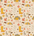 Autumn pattern Seamless texture with autumn vector image vector image