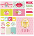 Baby Shower Nautical Theme vector image vector image