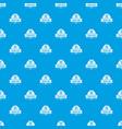 bin plastic pattern seamless blue vector image vector image