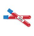 blood sample tube for covid-19 coronavirus test vector image