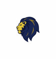 blue yellow angry lion head logo sign vector image vector image