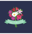 bouquet of flowers greeting vector image vector image