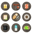 Breakfast flat icons vector image vector image