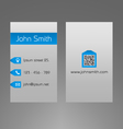 Business card template - modern light grey design vector image vector image