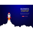 business concept banner with startup vector image