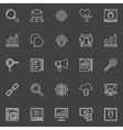 Business Marketing icons set vector image vector image