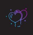 christmas balloon icon design vector image vector image