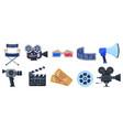 cinema symbols movie theatre or cinematography vector image vector image