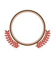 circular border with crown branch leaves vector image vector image