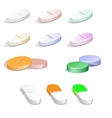 colorfull pills vector image vector image