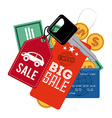 commerce tags vector image vector image