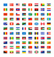 country flags world wide independence map name vector image