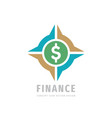 dollar finance logo design money business vector image vector image