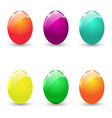 Easter set colorful eggs isolated on white vector image vector image