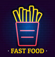 fast food logo flat style vector image