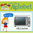 Flashcard letter M is for microwave vector image vector image