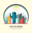 flat style modern design of urban city landscape vector image vector image